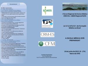 Frente Folder Fórum CRMES ABEM RJES